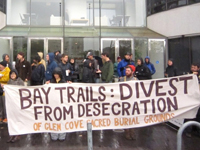 Bay Trails Demand: Divest from Desecration