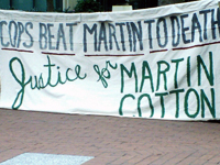 Eureka Police Murder of Martin Frederick Cotton II on Trial in Oakland