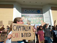 Occupy Santa Cruz Marches on Banks