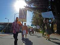 Occupy Santa Cruz Holds Demonstration in Support of the General Strike in Oakland