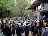 Students Occupy Hahn Student Services Building at UCSC