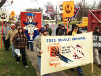 Supporters of Bradley Manning Demonstrate Outside Fort Meade