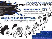 Occupy Oakland Move-In Day and Oakland Rise Up Festival Jan. 28–29