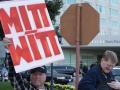 Protest Shuts Down Hotel Sofitel Entrance Before Romney Gala Fundraiser