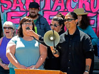 Community Members Rally for Charges to Be Dropped Against the Santa Cruz Eleven