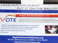 Petition Turn-in Rally for Right To Vote On Desalination in Santa Cruz