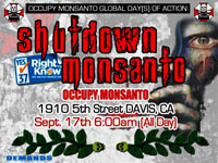 Anti-Monsanto Project to Shutdown Monsanto in Davis on September 17th