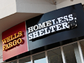 Wells Fargo Turned into Homeless Shelter and Soup Kitchen