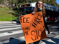 UC Santa Cruz Students and Workers Rally for Health Care Justice