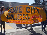 CCSF Students, Faculty, and Supporters Demand a Voice
