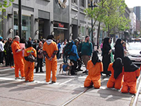 Guantanamo Detainee Solidarity Protest Blocks Market Street