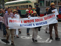 San Franciscans Rally to Oppose Cuts to Social Security Cost-of-Living Protection