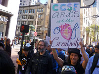 Thousands March and Rally Against Attack on City College of San Francisco