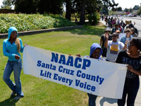 Marching in Santa Cruz for Justice for Trayvon and Others Subjected to Racial Profiling