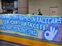 Two of the 'Walmart 60' Picket Salinas Walmart Store