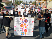 Dia de los Muertos and Speaking out Against Violence at the Peace and Unity March