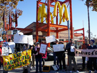"Demonstrators Say ""Low Pay is Not Okay"" at Bay Area McDonalds"