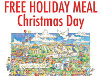 Free Holiday Meal on Christmas Day from Food Not Bombs Santa Cruz