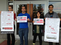 Animal Rights Activists Demonstrate at Santa Cruz Chipotle Restaurant