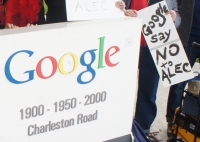 Protest at Google Headquarters Demands Google Withdraw from ALEC