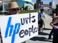 Protest Inside and Outside Hewlett-Packard Shareholders' Meeting