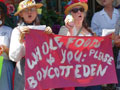Protest at Whole Foods in Palo Alto: Boycott Eden Foods