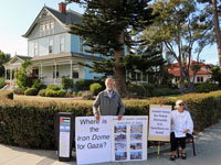 Demonstrators at Sam Farr Fundraiser Oppose Congress Member's Support of Israeli War