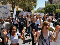 Santa Cruz Rally and March in Solidarity with the People of Ferguson