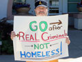 'Pushback' Demonstration at the SCPD Against Homeless Harassment