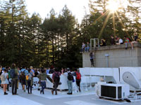 UCSC Student Walkout Ends with Rally on Roof of Administration Building
