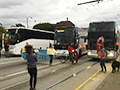 Triple Tech Bus Blockade in San Francisco