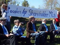 Hewlett Packard Protest: The People's Shareholders Meeting