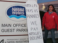 Activists 'Shut Down' Nestlé Water Bottling Plant