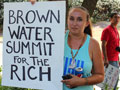 Winnemen Wintu and Allies Protest Governor's California Water Summit