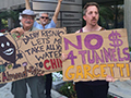 Delta Tunnels for Big Ag Tycoons Protested in Los Angeles