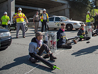 Indybay Journalist Faces Prosecution for Documenting UCSC Highway Blockade