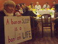 Freedom Sleepers Confront Santa Cruz City Council at el Palomar Restaurant
