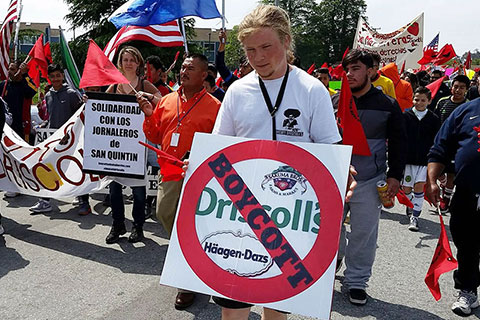 UFW Tries to Silence Boycott Driscoll's Activists at Cesar Chavez March