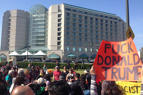 Anti-Trump Protesters Shut Down Roads to Republican Convention
