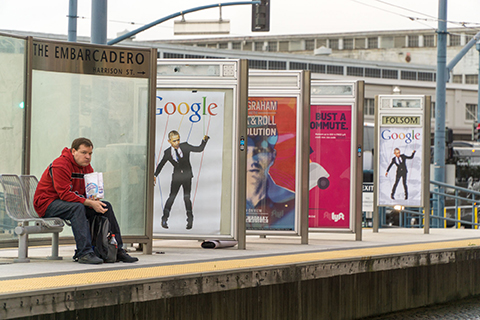 Poster Protests Against Google-Government Collusion