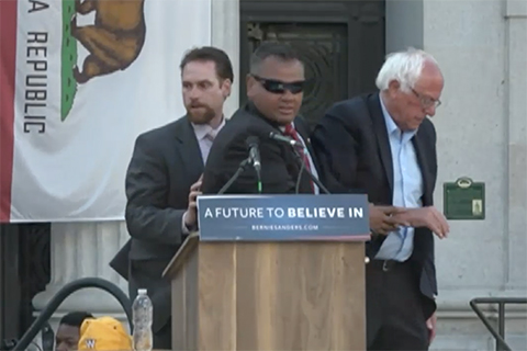 Protesters Denounce Sanders' Support for Animal Agriculture