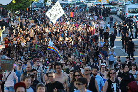 Politicians Booed Off Stage at Trans March