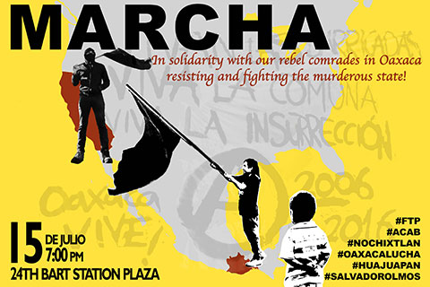 Solidarity March in SF with Oaxacan Uprising on July 15