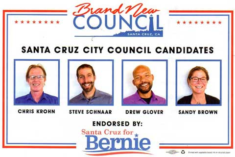 Santa Cruz City Council Campaign Contributions List Shows Where the Money is Going