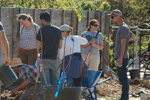 Community Orchard Planting in Santa Cruz on Site of Famous Pear Orchard