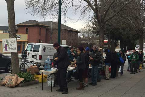 Anti-Homeless Group Tries to Drive Santa Cruz Food Not Bombs Out of Sight