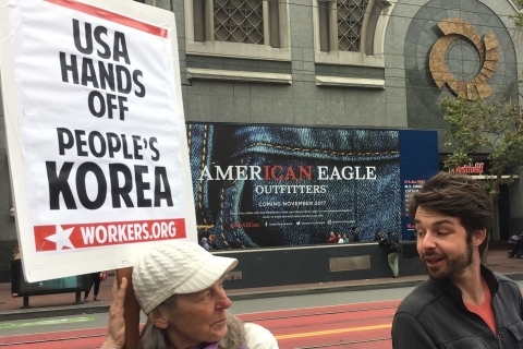 San Francisco Demonstrators Call for Halt to War Games Along the Korean Peninsula