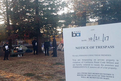 East Bay Homeless Encampment Threatened by BART Police