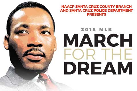 Santa Cruz NAACP and SCPD to Cosponsor MLK March
