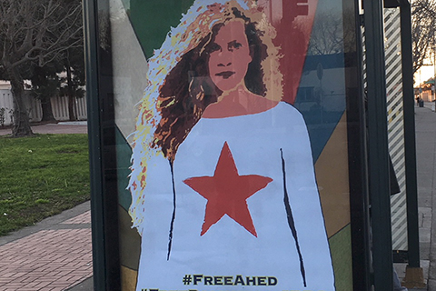 Queer Arts Collectives Create Iconic Ahed Tamimi Street Art